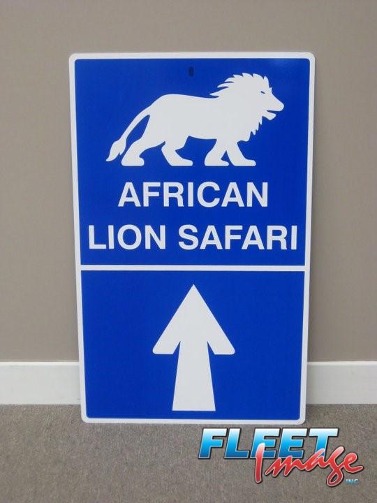 African Lion Safari signage