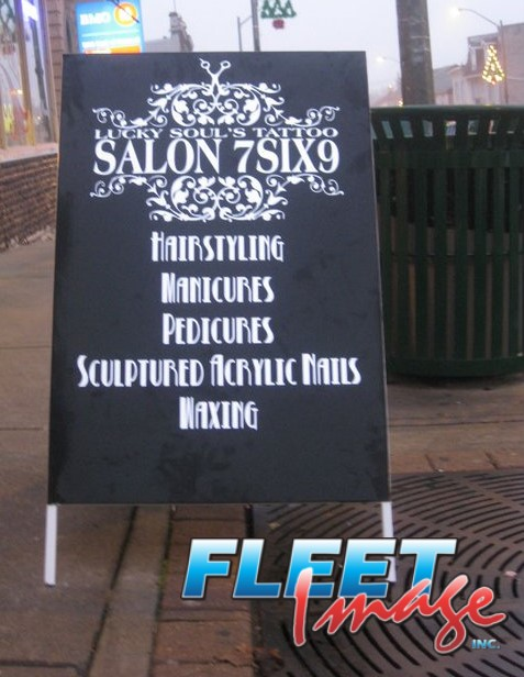 Lucky Soul's Tattoo Salon 7SIX9 signage