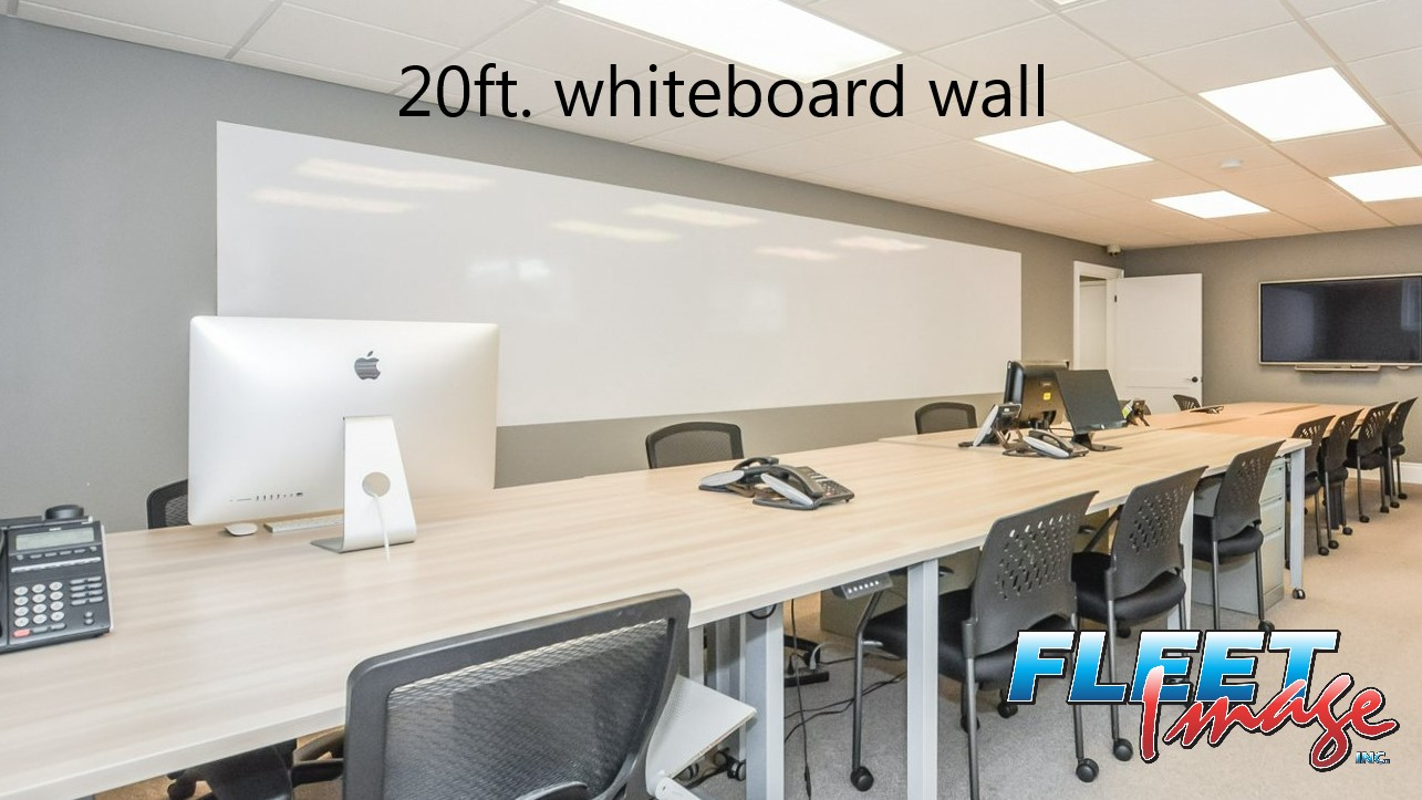 20ft. whiteboard wall