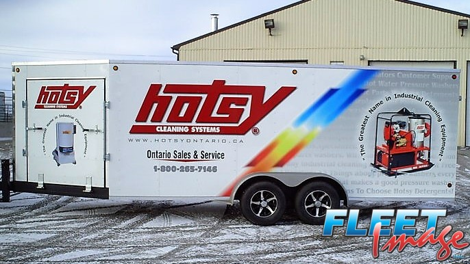 hotsy cleaning systems decal sticker on a truck
