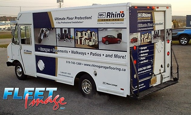 Vehicle with a Rhino Home Pro decal sticker
