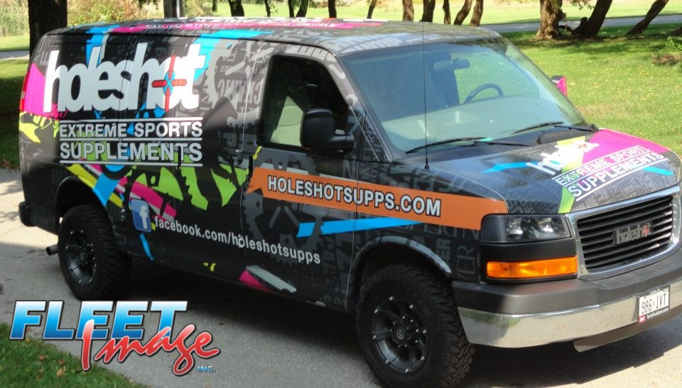 Vehicle with aholeshotsupps.com decal sticker