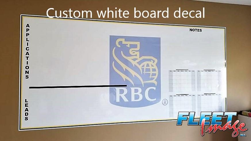 Custom white board decal