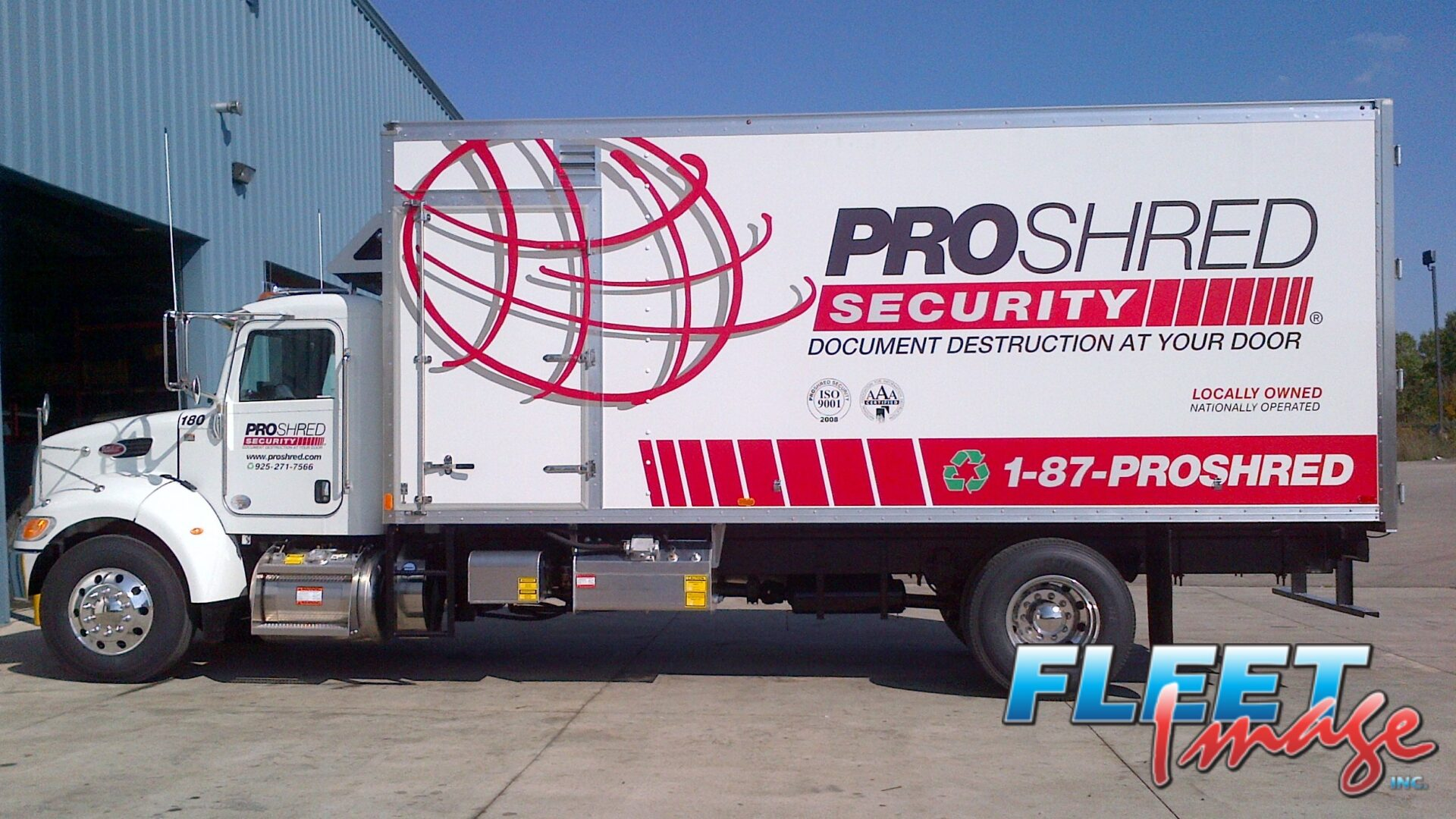 PROSHRED SECURITYdecal sticker on a truck