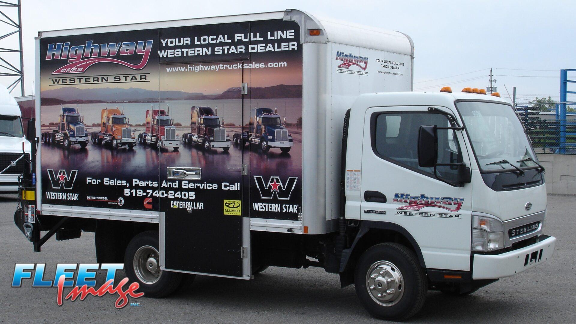 Western Star decal sticker on a truck