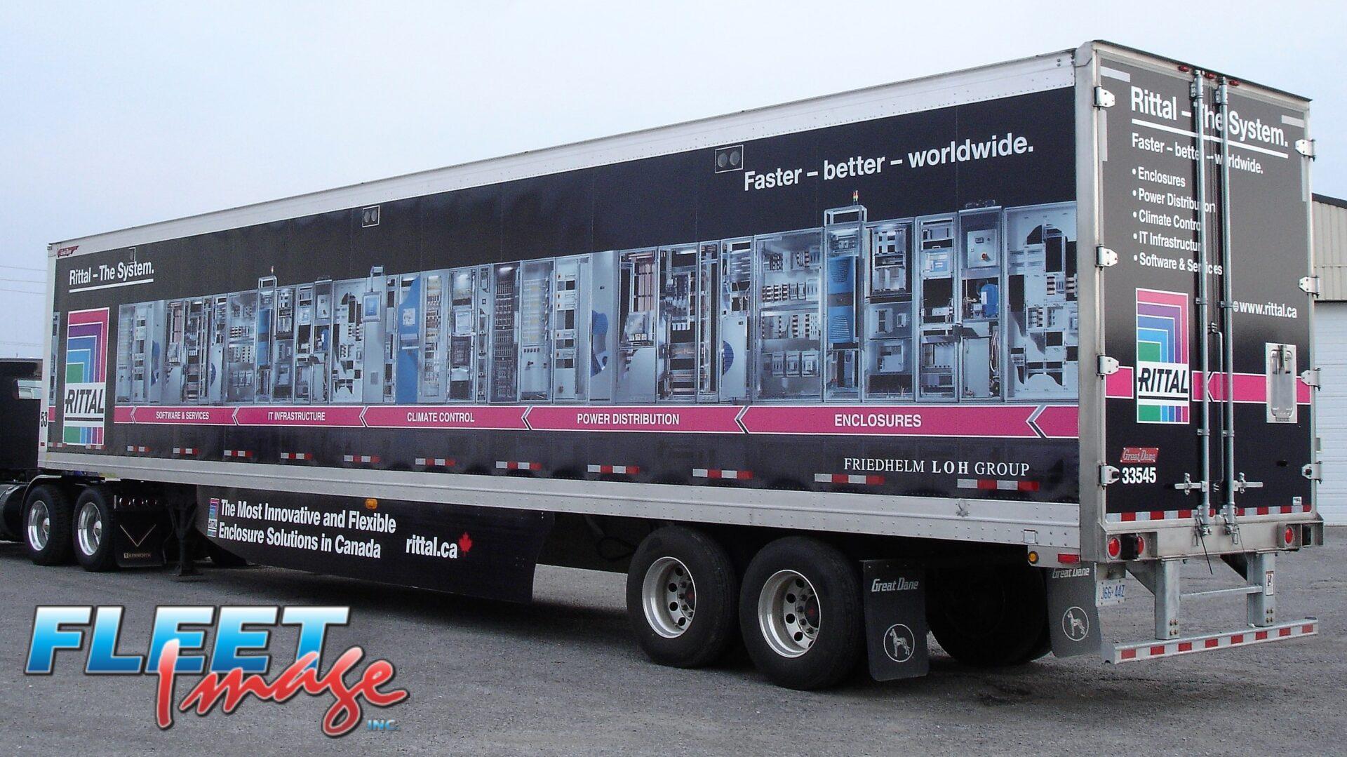Rittal decal sticker on a truck