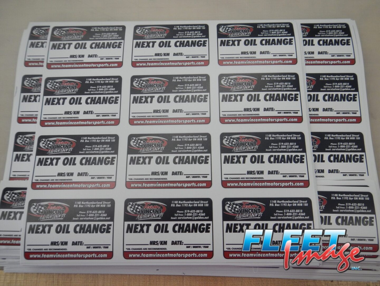 NEXT OIL CHANGE stickers