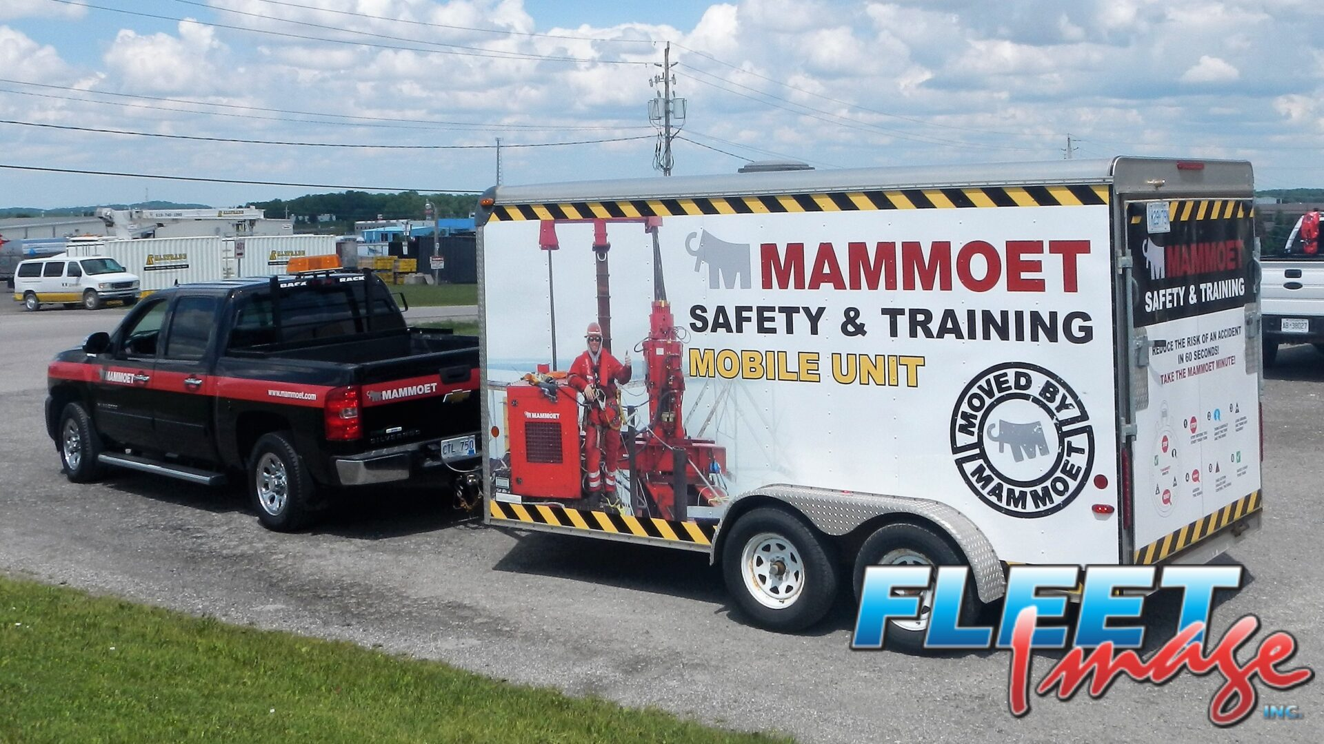 Mammoet Safety & Training Mobile Unit decal sticker on a truck