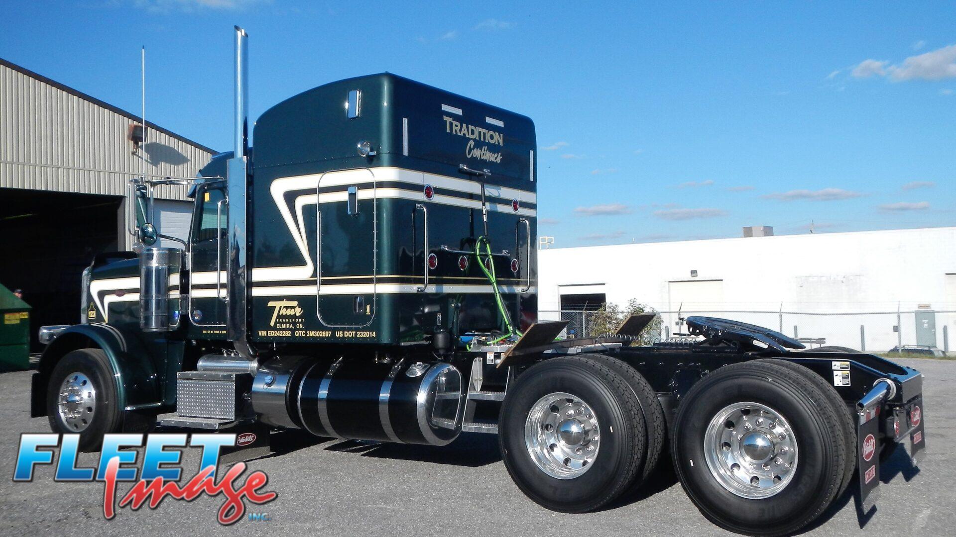 Thur Transport black truck