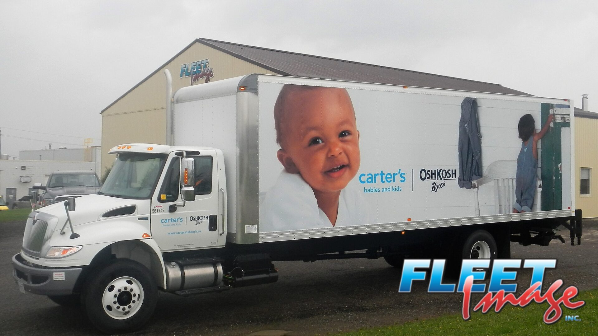 carter's babies and kids decal sticker on a truck
