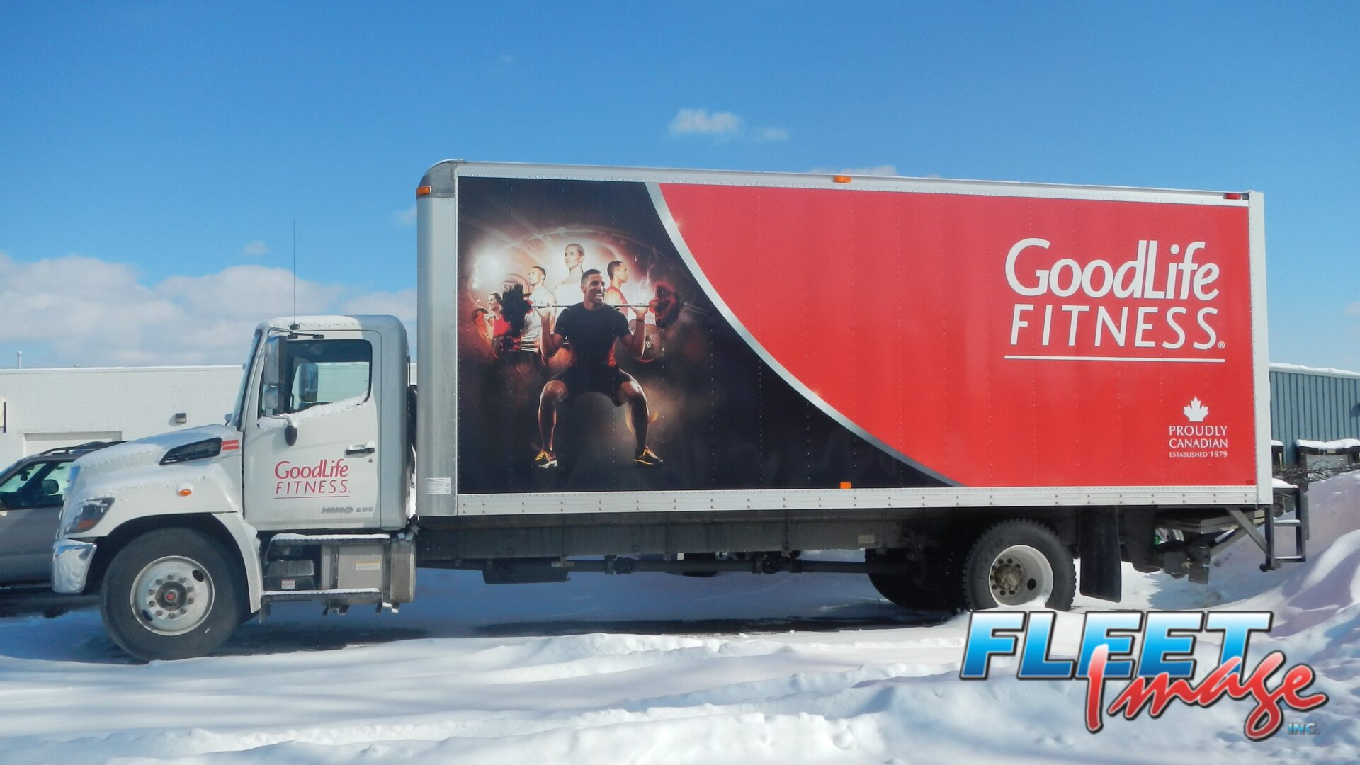 GoodLife Fitness decal sticker on a truck