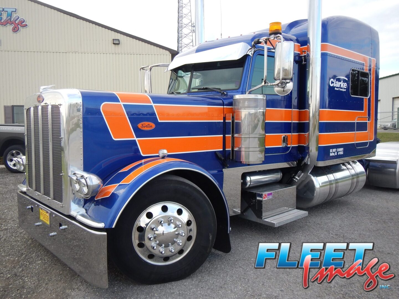 Clarke Road Transport orange and blue truck
