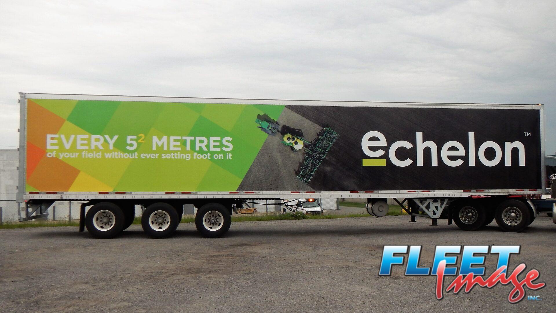 echelon decal sticker on a truck