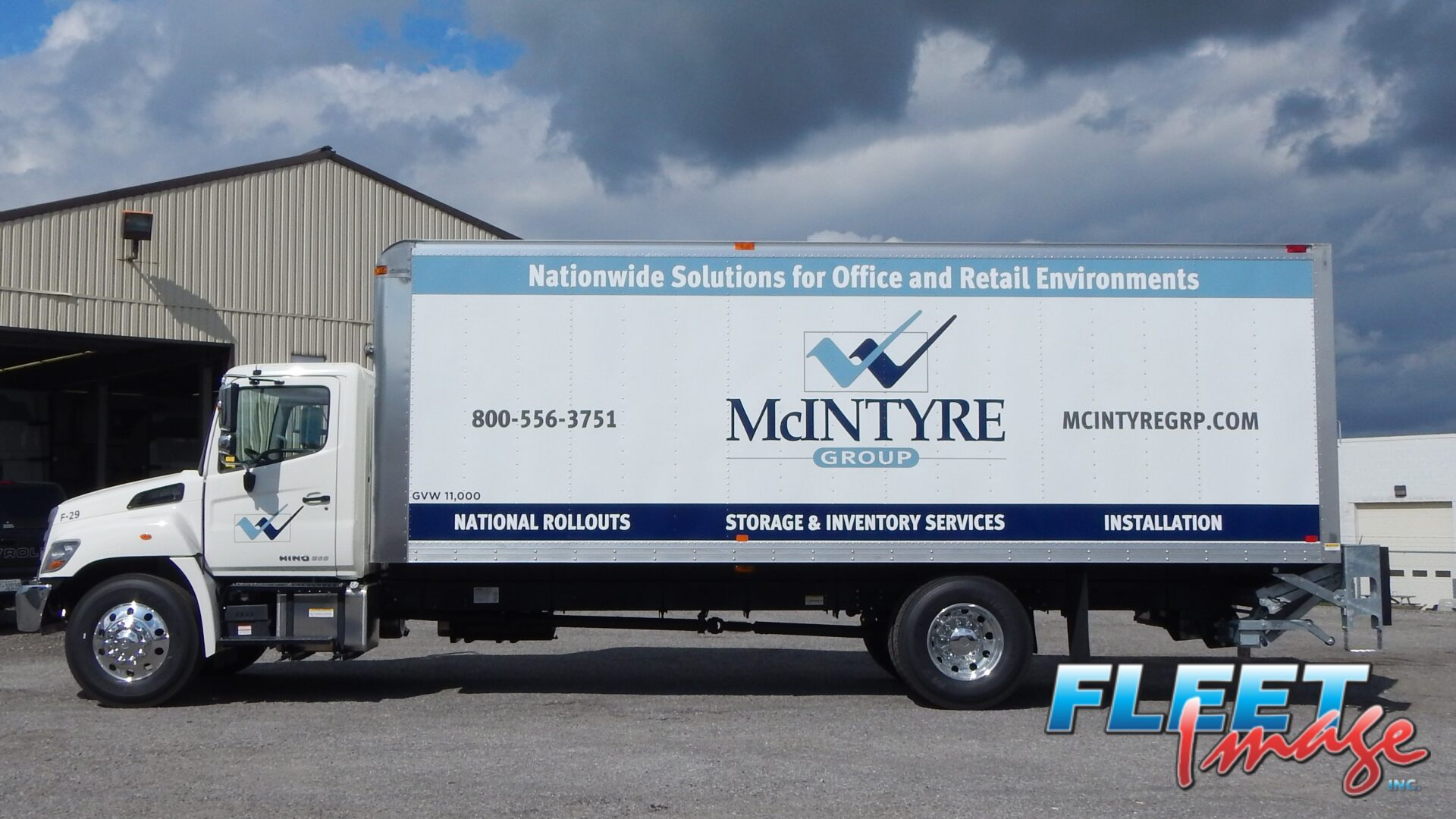 McINTYRE GROUP decal sticker on a truck