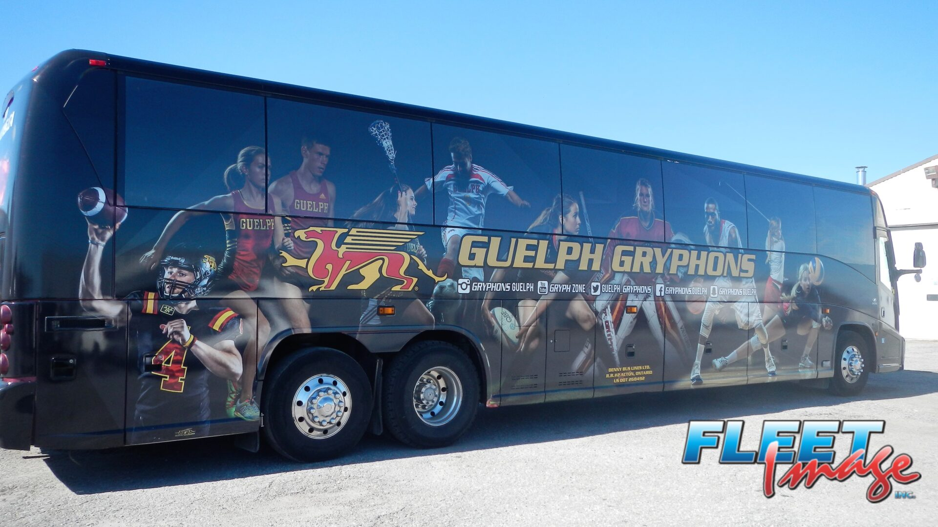 GUELPH GRYPHONS decal sticker on a truck
