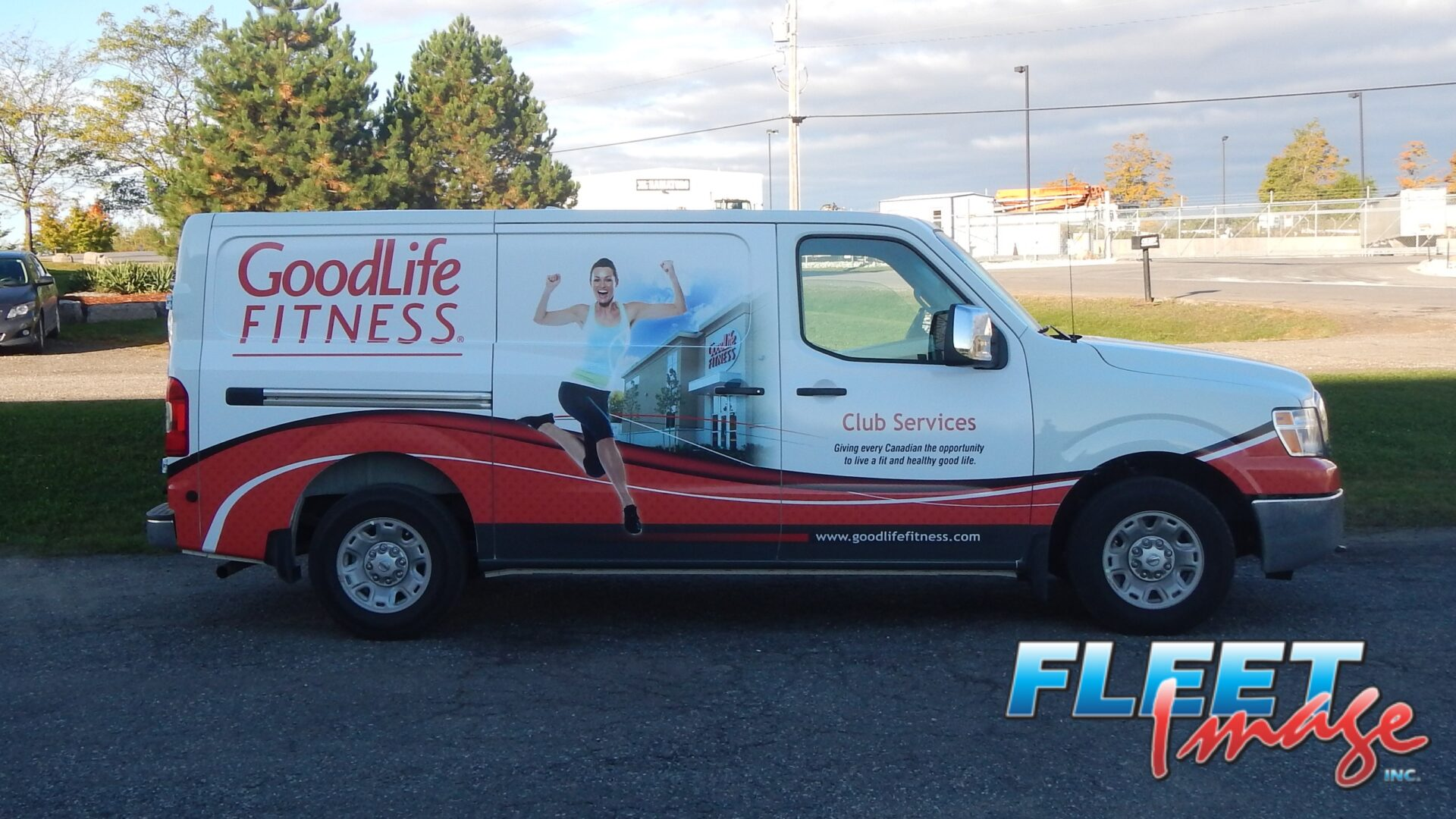 Vehicle with a GoodLife Fitnessdecal sticker