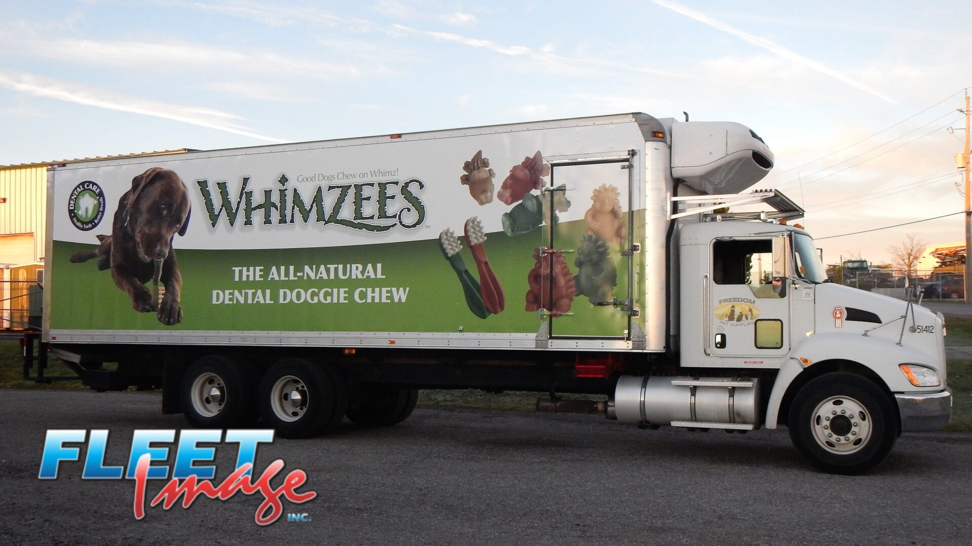 WHIMZEES decal sticker on a truck
