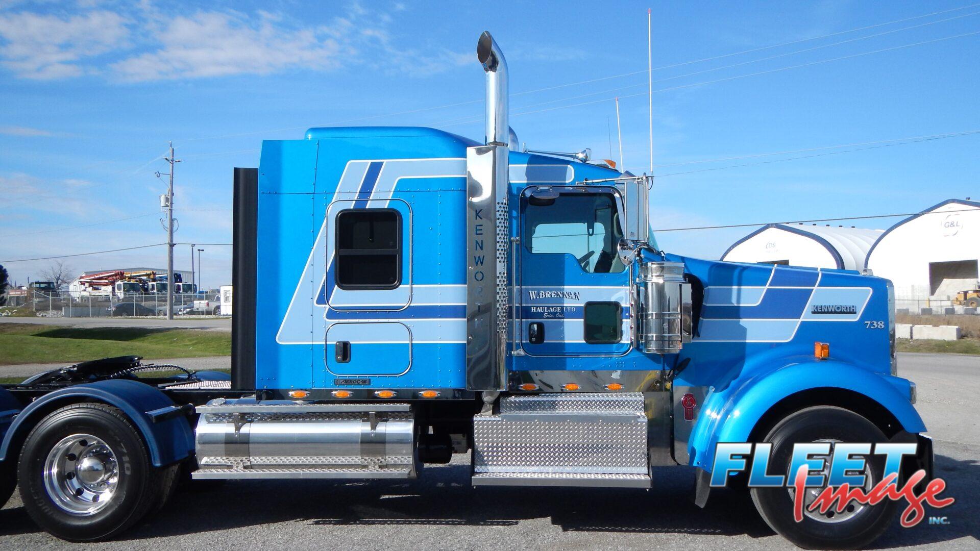 W. BRENNAN Haulage LTD. blue truck