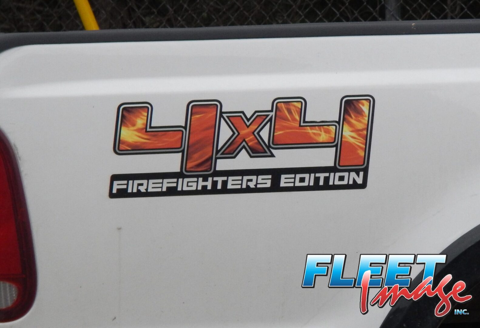 4X4 FIREFIGHTERS EDITION sticker on a vehicle