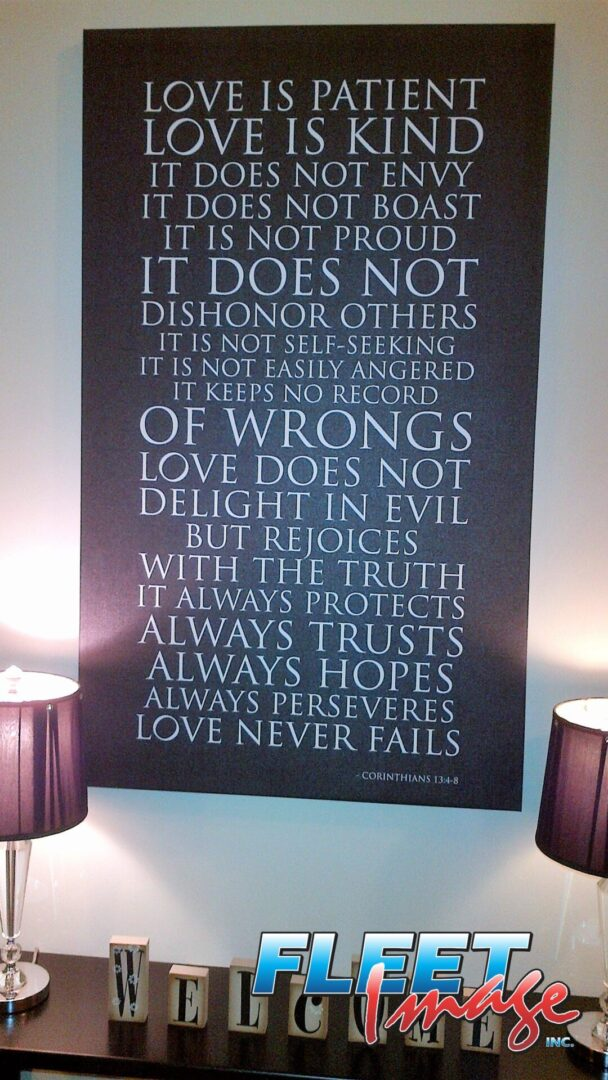 Corinthians quote wall art
