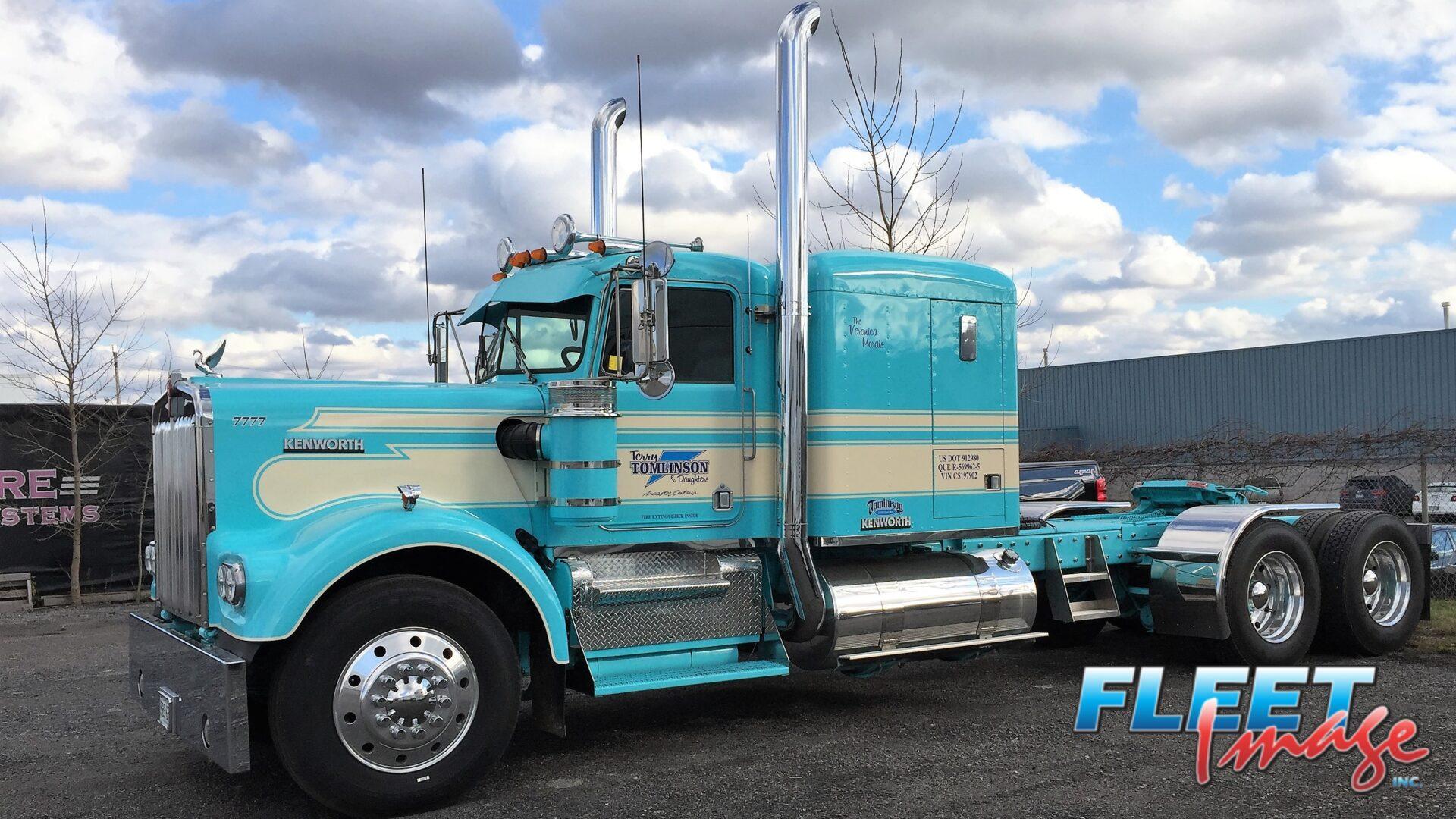 Terry Tomlinson & Daughter blue truck