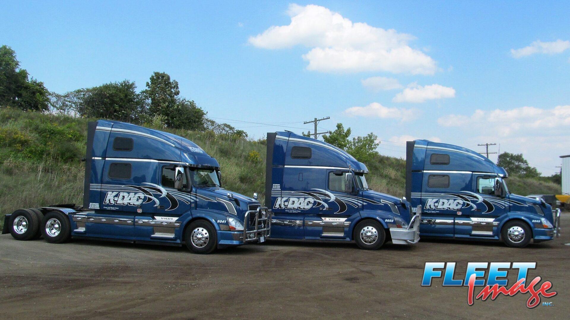 K-DAC blue truck