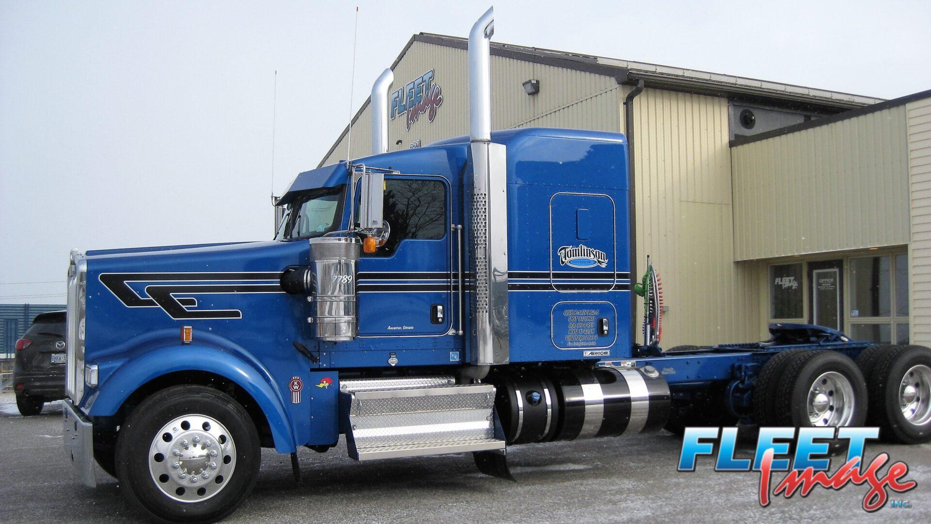 Tomlinson Systems Inc. blue truck