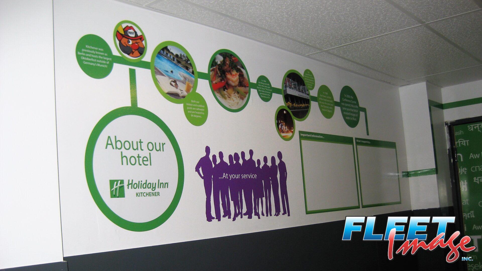 Wall art of Holiday Inn