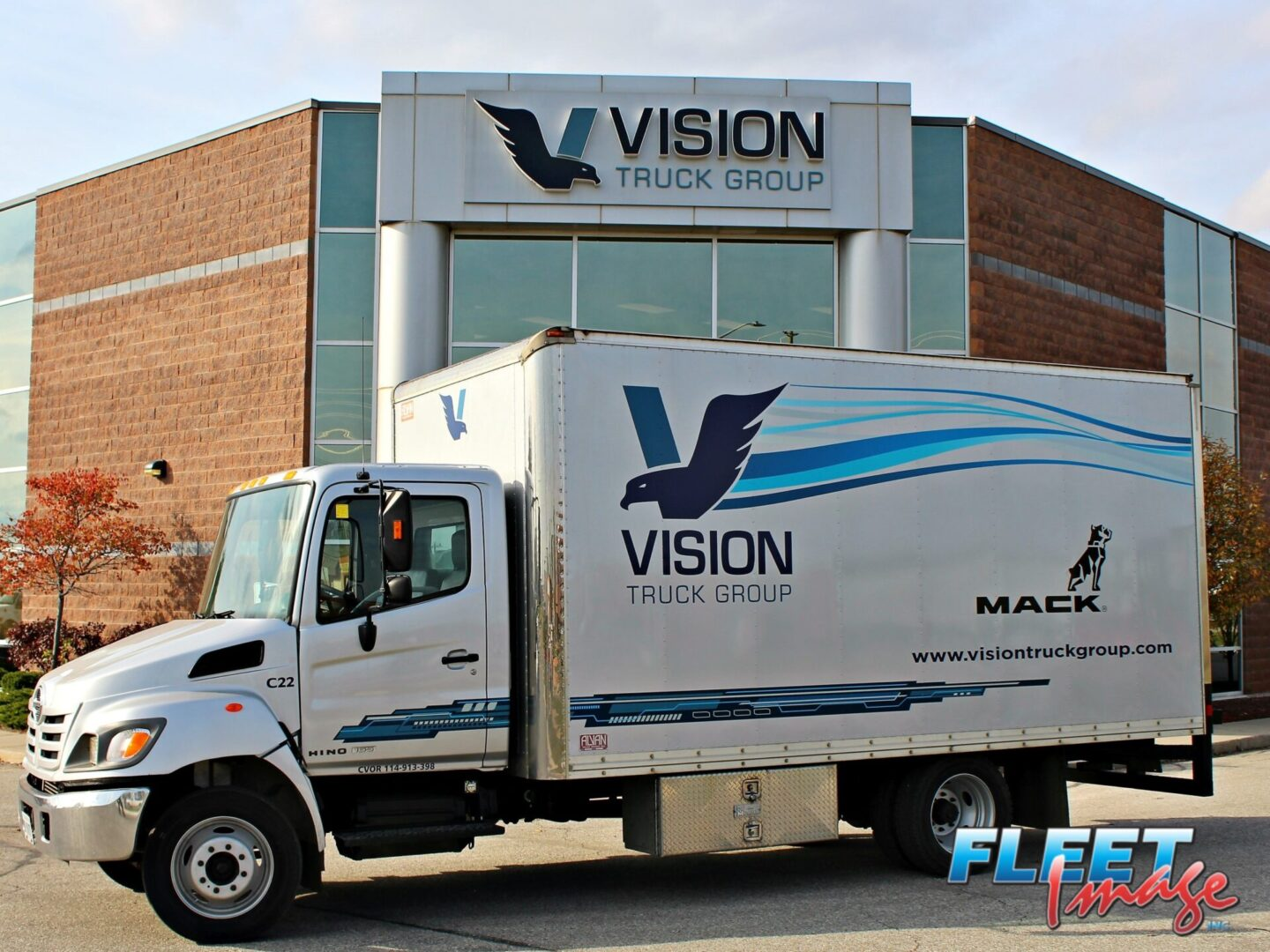 VISION TRUCK GROUP decal sticker on a truck