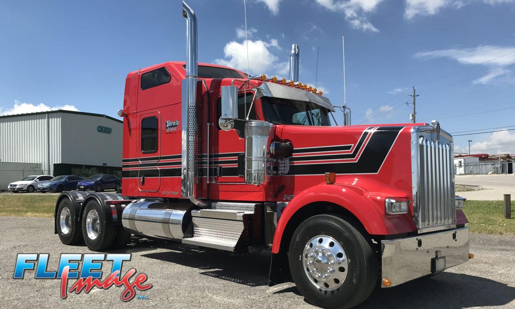 Vernla red truck