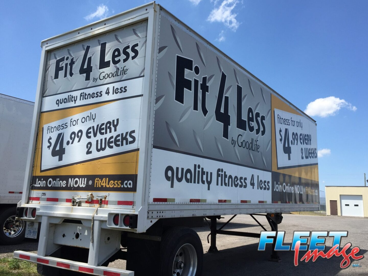 Fit 4 Less by GoodLife decal sticker on a truck