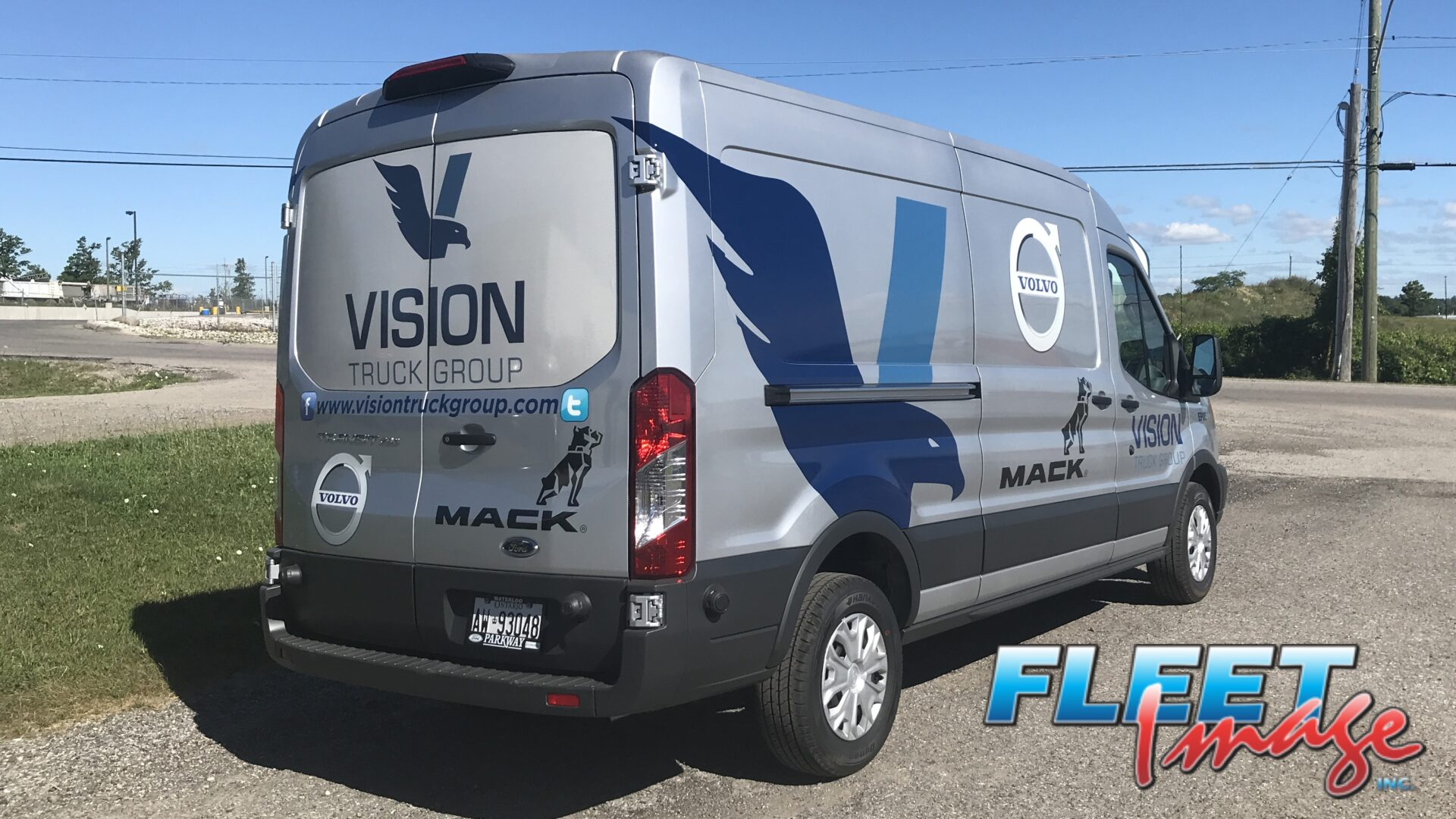Vehicle with a VISION TRUCK GROUPdecal sticker