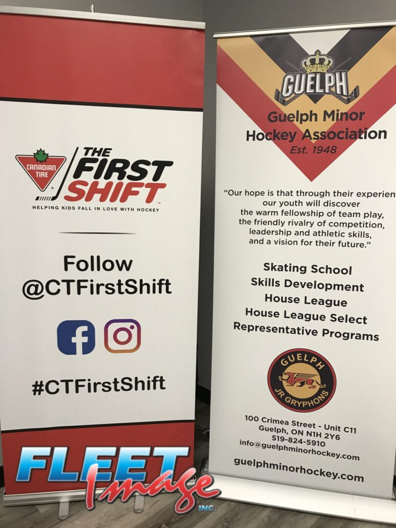 The First Shift roll-up banner