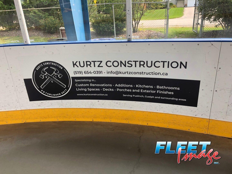 KURTZ CONSTRUCTION decal sticker