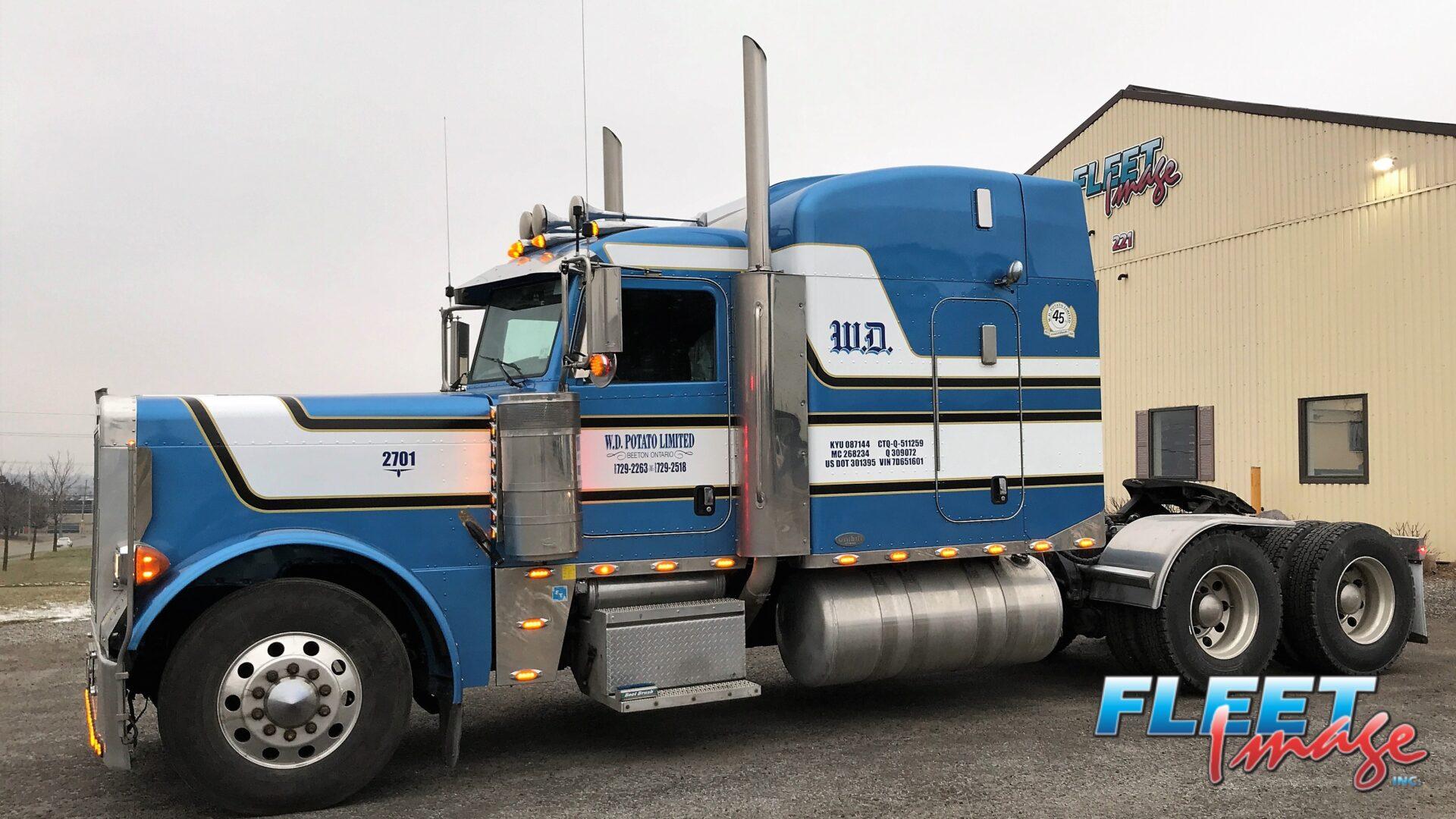 W.D. Potato Limited blue truck