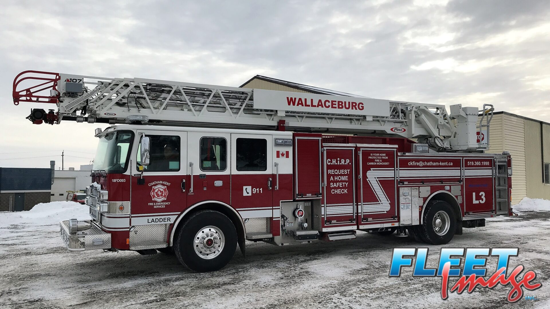 WALLACEBURG decal on a fire truck