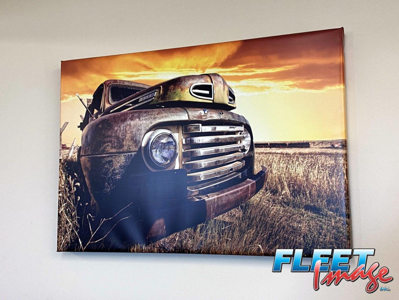 Farm truck wall art