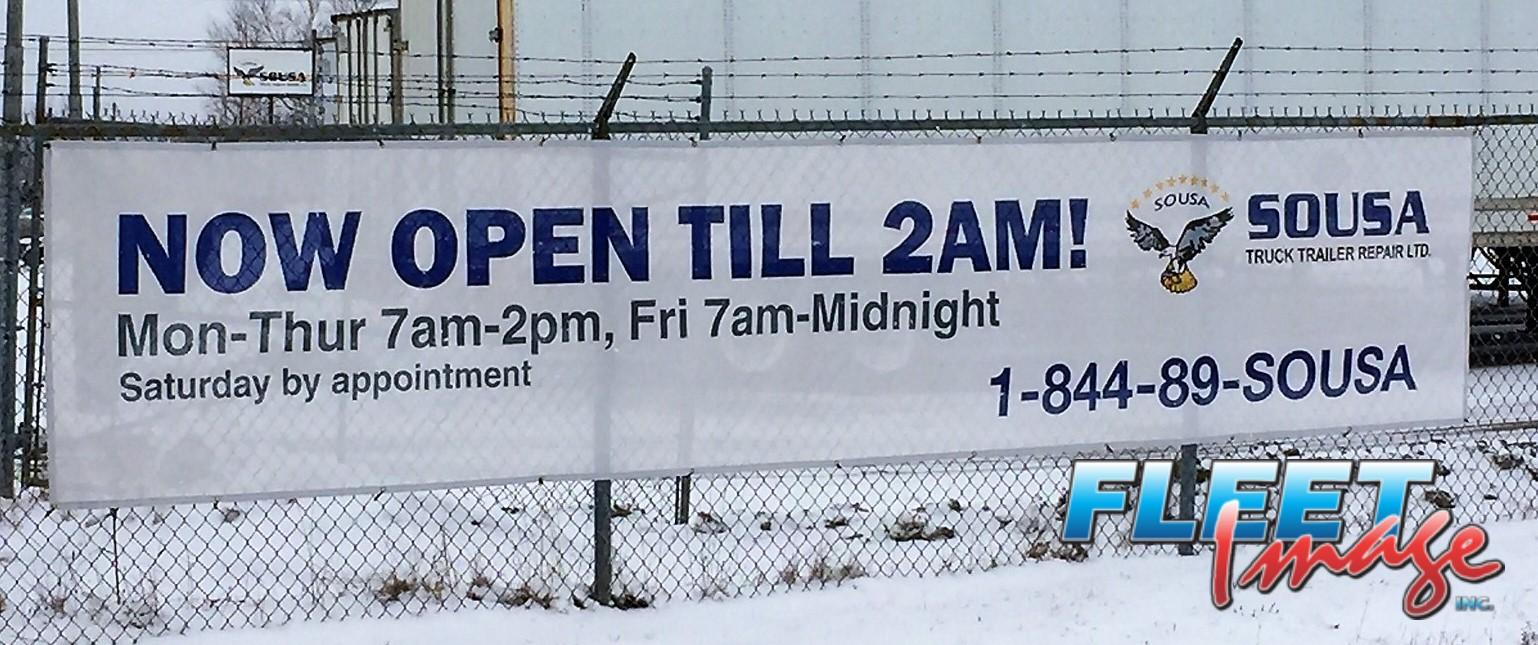 SOUSA TRUCK TRAILER REPAIR LTD opening hours signage
