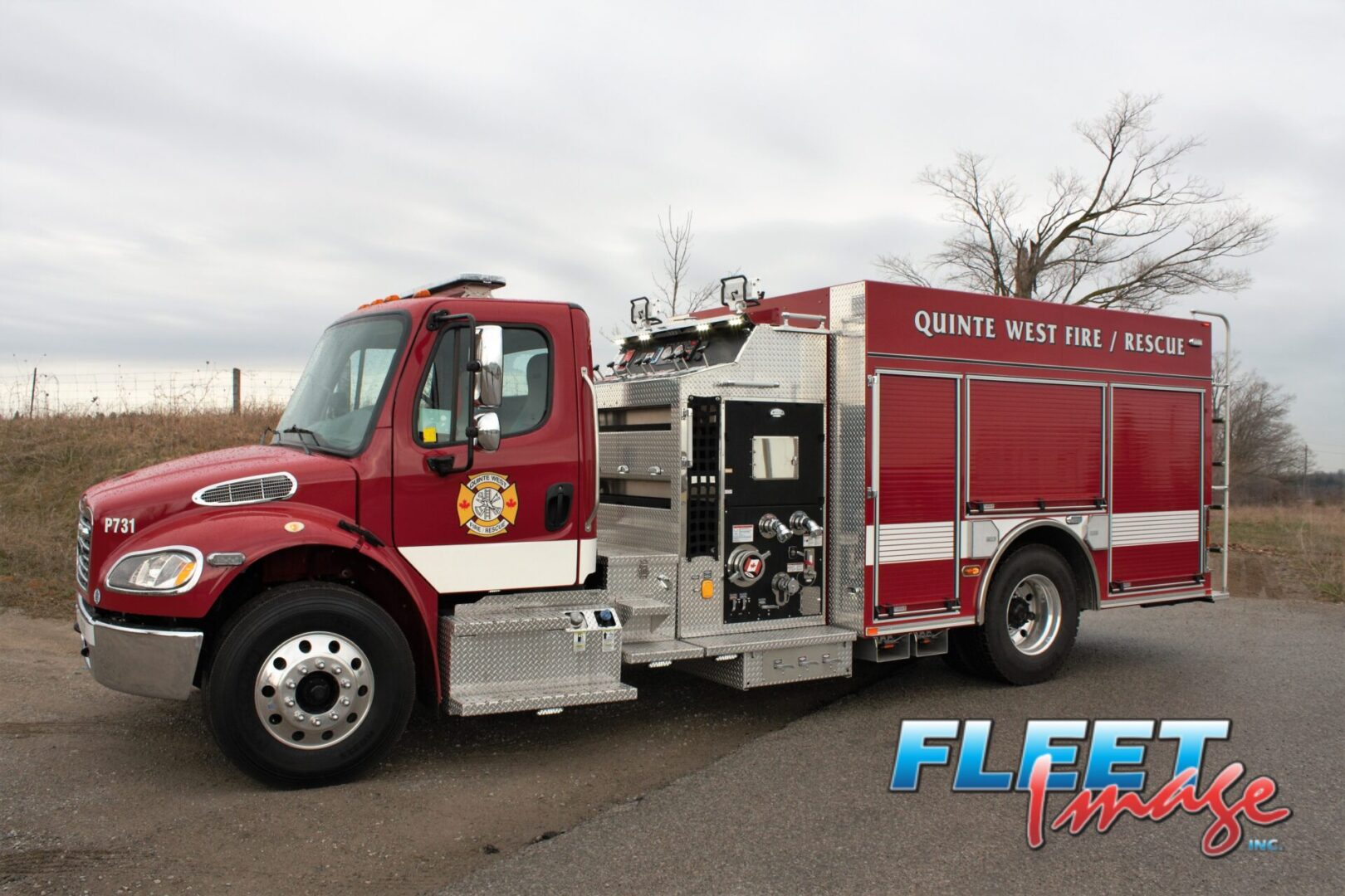 QUINTE WEST FIRE/RESCUE decal on a fire truck