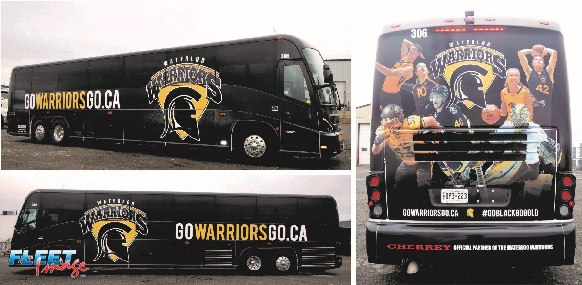 Waterloo Warriors decal sticker on a truck